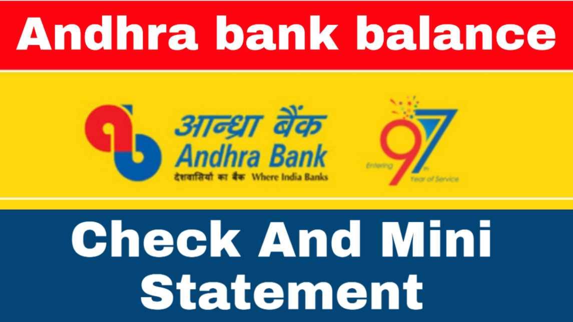 Andhra bank balance check number