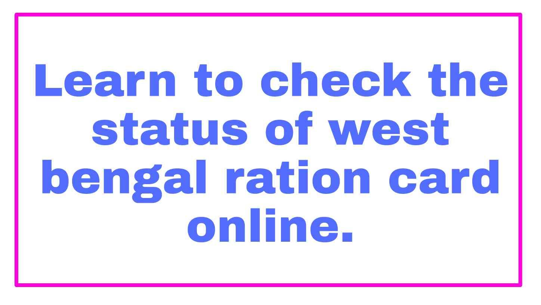 West Bengal Digital Ration Card List 2021