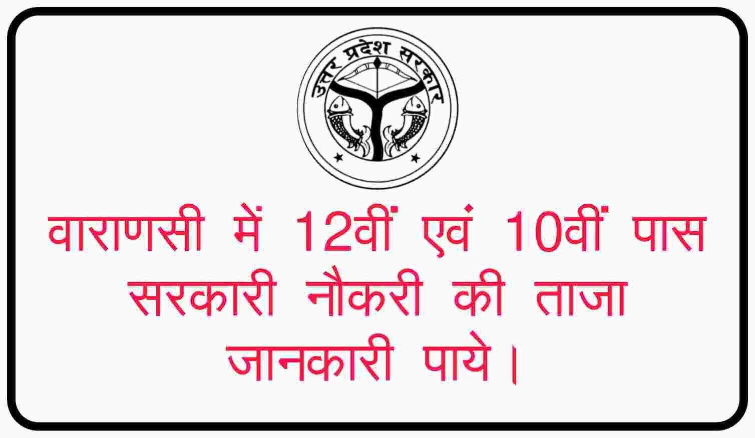 10th 12th Pass sarkari Job Varanasi | 12 वीं पास सरकारी नौकरी | Varanasi 12th pass government job | job for 12th pass